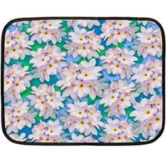 Plumeria Bouquet Exotic Summer Pattern  Double Sided Fleece Blanket (mini)  by BluedarkArt