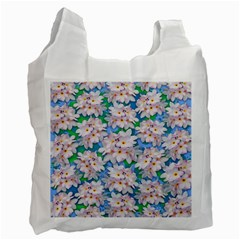 Plumeria Bouquet Exotic Summer Pattern  Recycle Bag (two Side)  by BluedarkArt