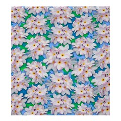 Plumeria Bouquet Exotic Summer Pattern  Shower Curtain 66  X 72  (large)  by BluedarkArt