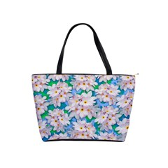 Plumeria Bouquet Exotic Summer Pattern  Shoulder Handbags by BluedarkArt