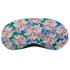 Plumeria Bouquet Exotic Summer Pattern  Sleeping Masks by BluedarkArt