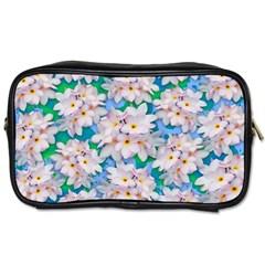 Plumeria Bouquet Exotic Summer Pattern  Toiletries Bags 2 Side by BluedarkArt