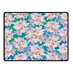 Plumeria Bouquet Exotic Summer Pattern  Fleece Blanket (small) by BluedarkArt