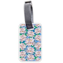 Plumeria Bouquet Exotic Summer Pattern  Luggage Tags (one Side)  by BluedarkArt