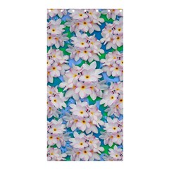 Plumeria Bouquet Exotic Summer Pattern  Shower Curtain 36  X 72  (stall)  by BluedarkArt