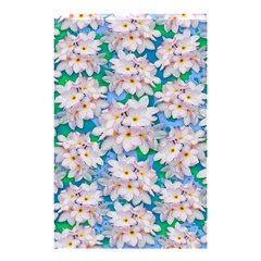 Plumeria Bouquet Exotic Summer Pattern  Shower Curtain 48  X 72  (small)  by BluedarkArt