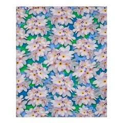 Plumeria Bouquet Exotic Summer Pattern  Shower Curtain 60  X 72  (medium)  by BluedarkArt
