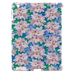 Plumeria Bouquet Exotic Summer Pattern  Apple Ipad 3/4 Hardshell Case (compatible With Smart Cover) by BluedarkArt