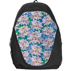 Plumeria Bouquet Exotic Summer Pattern  Backpack Bag by BluedarkArt