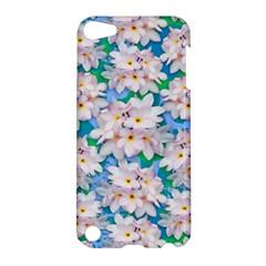 Plumeria Bouquet Exotic Summer Pattern  Apple Ipod Touch 5 Hardshell Case by BluedarkArt