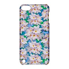 Plumeria Bouquet Exotic Summer Pattern  Apple Ipod Touch 5 Hardshell Case With Stand by BluedarkArt