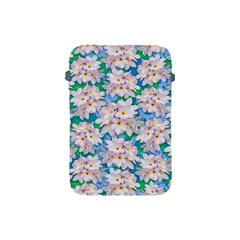 Plumeria Bouquet Exotic Summer Pattern  Apple Ipad Mini Protective Soft Cases by BluedarkArt