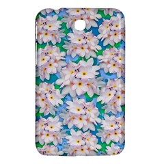 Plumeria Bouquet Exotic Summer Pattern  Samsung Galaxy Tab 3 (7 ) P3200 Hardshell Case  by BluedarkArt