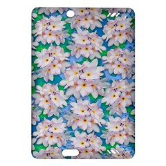 Plumeria Bouquet Exotic Summer Pattern  Amazon Kindle Fire Hd (2013) Hardshell Case by BluedarkArt