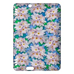 Plumeria Bouquet Exotic Summer Pattern  Kindle Fire Hdx Hardshell Case by BluedarkArt