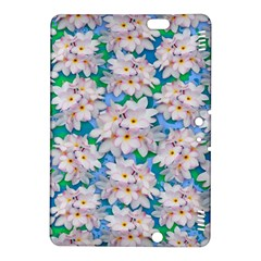 Plumeria Bouquet Exotic Summer Pattern  Kindle Fire Hdx 8 9  Hardshell Case by BluedarkArt