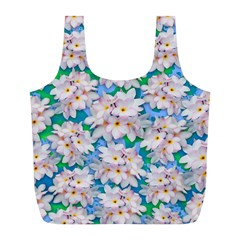 Plumeria Bouquet Exotic Summer Pattern  Full Print Recycle Bags (l)  by BluedarkArt