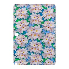 Plumeria Bouquet Exotic Summer Pattern  Samsung Galaxy Tab Pro 12 2 Hardshell Case by BluedarkArt
