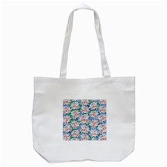 Plumeria Bouquet Exotic Summer Pattern  Tote Bag (white) by BluedarkArt