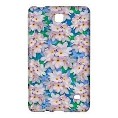Plumeria Bouquet Exotic Summer Pattern  Samsung Galaxy Tab 4 (7 ) Hardshell Case  by BluedarkArt