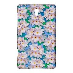 Plumeria Bouquet Exotic Summer Pattern  Samsung Galaxy Tab S (8 4 ) Hardshell Case  by BluedarkArt