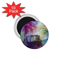 Bench In Spring Forest 1 75  Magnets (10 Pack)  by Amaryn4rt