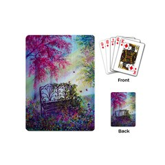 Bench In Spring Forest Playing Cards (mini)  by Amaryn4rt