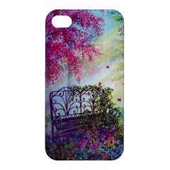 Bench In Spring Forest Apple Iphone 4/4s Hardshell Case