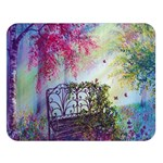 Bench In Spring Forest Double Sided Flano Blanket (Large)  80 x60 Blanket Front