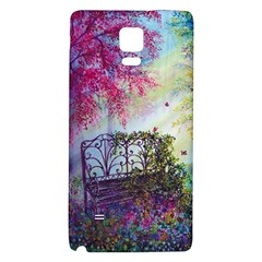 Bench In Spring Forest Galaxy Note 4 Back Case by Amaryn4rt