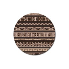 Ethnic Pattern Vector Magnet 3  (round) by Amaryn4rt