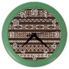 Ethnic Pattern Vector Color Wall Clocks by Amaryn4rt