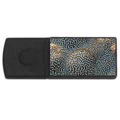 Coral Pattern Usb Flash Drive Rectangular (4 Gb) by Amaryn4rt