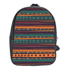 Ethnic Style Tribal Patterns Graphics Vector School Bags (xl)  by Amaryn4rt