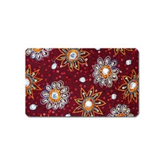 India Traditional Fabric Magnet (name Card) by Amaryn4rt
