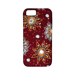 India Traditional Fabric Apple Iphone 5 Classic Hardshell Case (pc+silicone) by Amaryn4rt