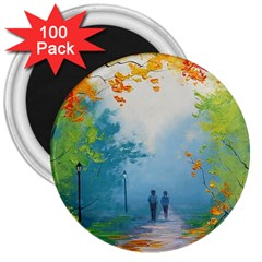 Park Nature Painting 3  Magnets (100 Pack) by Amaryn4rt