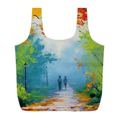 Park Nature Painting Full Print Recycle Bags (l)  by Amaryn4rt