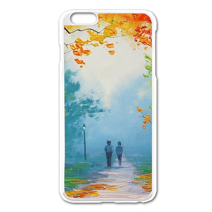 Park Nature Painting Apple iPhone 6 Plus/6S Plus Enamel White Case