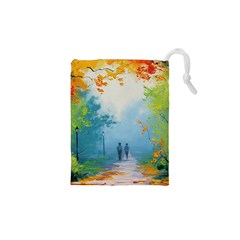 Park Nature Painting Drawstring Pouches (xs)  by Amaryn4rt