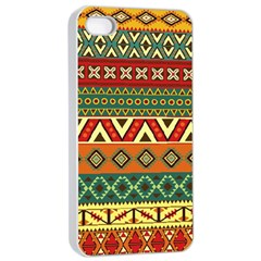 Mexican Folk Art Patterns Apple Iphone 4/4s Seamless Case (white)