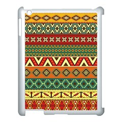 Mexican Folk Art Patterns Apple Ipad 3/4 Case (white) by Amaryn4rt