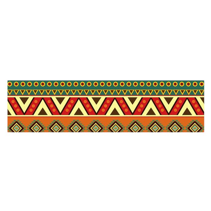 Mexican Folk Art Patterns Satin Scarf (Oblong)