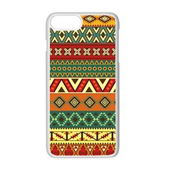 Mexican Folk Art Patterns Apple Iphone 7 Plus White Seamless Case by Amaryn4rt