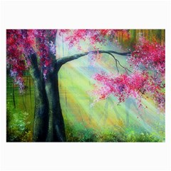 Forests Stunning Glimmer Paintings Sunlight Blooms Plants Love Seasons Traditional Art Flowers Sunsh Large Glasses Cloth (2 Side) by Amaryn4rt