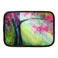 Forests Stunning Glimmer Paintings Sunlight Blooms Plants Love Seasons Traditional Art Flowers Sunsh Netbook Case (medium)  by Amaryn4rt
