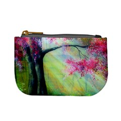 Forests Stunning Glimmer Paintings Sunlight Blooms Plants Love Seasons Traditional Art Flowers Sunsh Mini Coin Purses