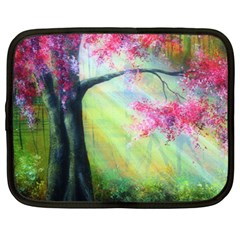 Forests Stunning Glimmer Paintings Sunlight Blooms Plants Love Seasons Traditional Art Flowers Sunsh Netbook Case (xxl)  by Amaryn4rt