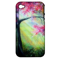 Forests Stunning Glimmer Paintings Sunlight Blooms Plants Love Seasons Traditional Art Flowers Sunsh Apple Iphone 4/4s Hardshell Case (pc+silicone)