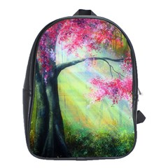 Forests Stunning Glimmer Paintings Sunlight Blooms Plants Love Seasons Traditional Art Flowers Sunsh School Bags (xl)  by Amaryn4rt